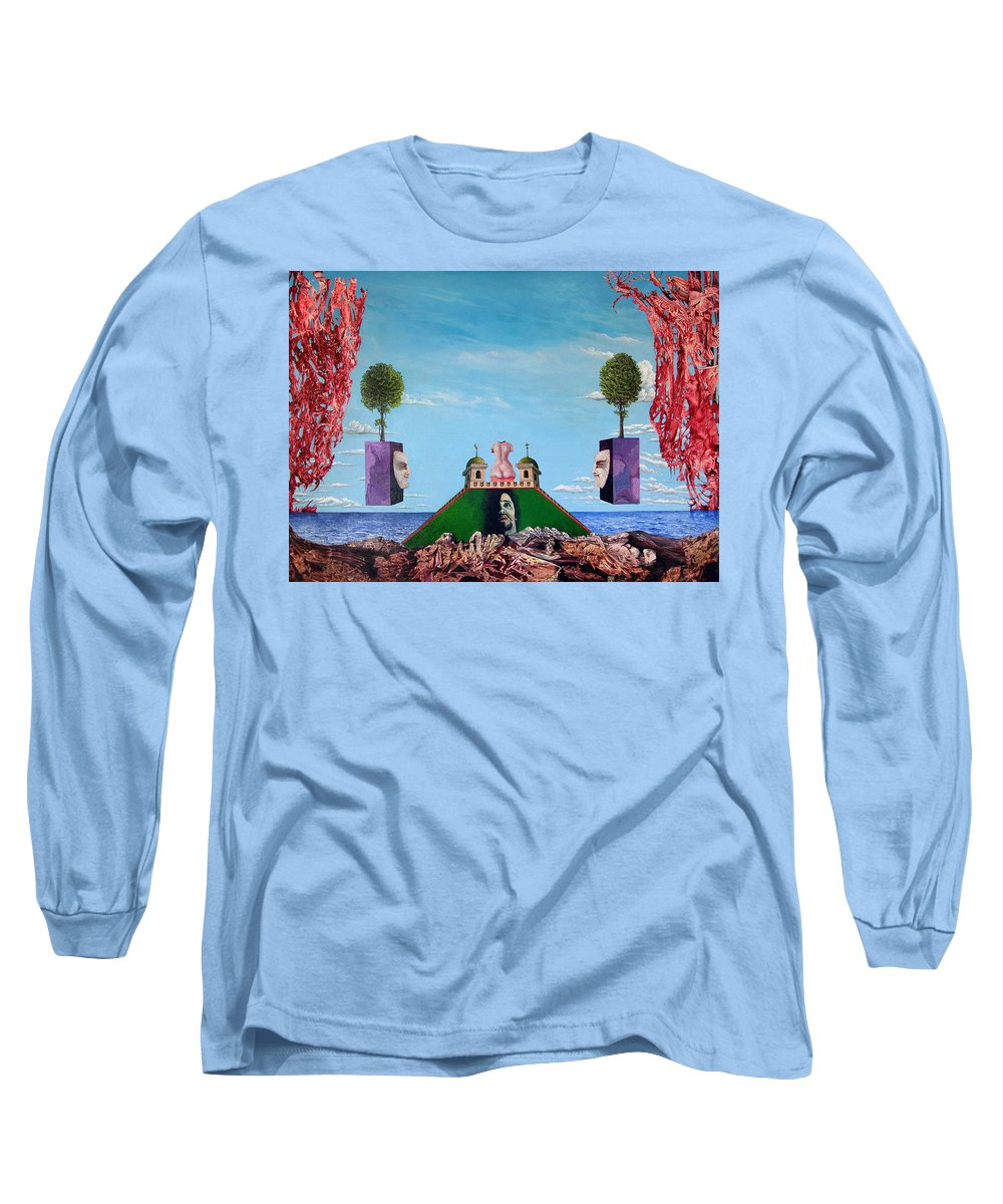 Painting Long Sleeve T-Shirt featuring the painting Bogomils Monastic Retreat by Otto Rapp