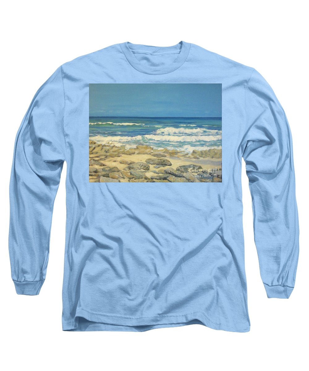 Compass Cay Long Sleeve T-Shirt featuring the painting Compass Cay by Danielle Perry