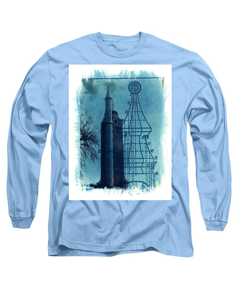 Alternative Process Photography Long Sleeve T-Shirt featuring the photograph Compton Blueprint by Jane Linders