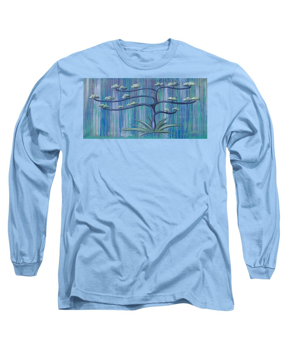 Tree Long Sleeve T-Shirt featuring the painting Cross Tree by Kelly Jade King