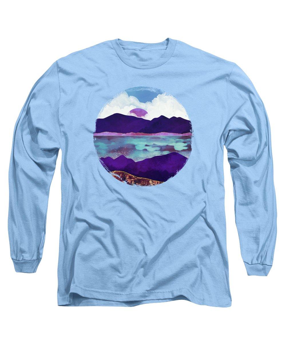 Dark Long Sleeve T-Shirt featuring the digital art Dark Sea by Spacefrog Designs