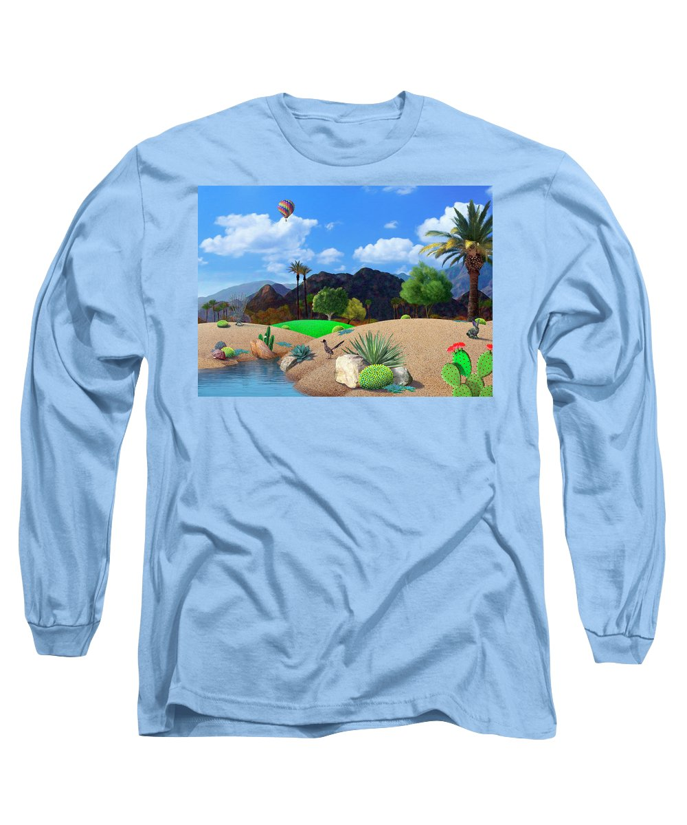 Desert Long Sleeve T-Shirt featuring the digital art Desert Splendor by Snake Jagger