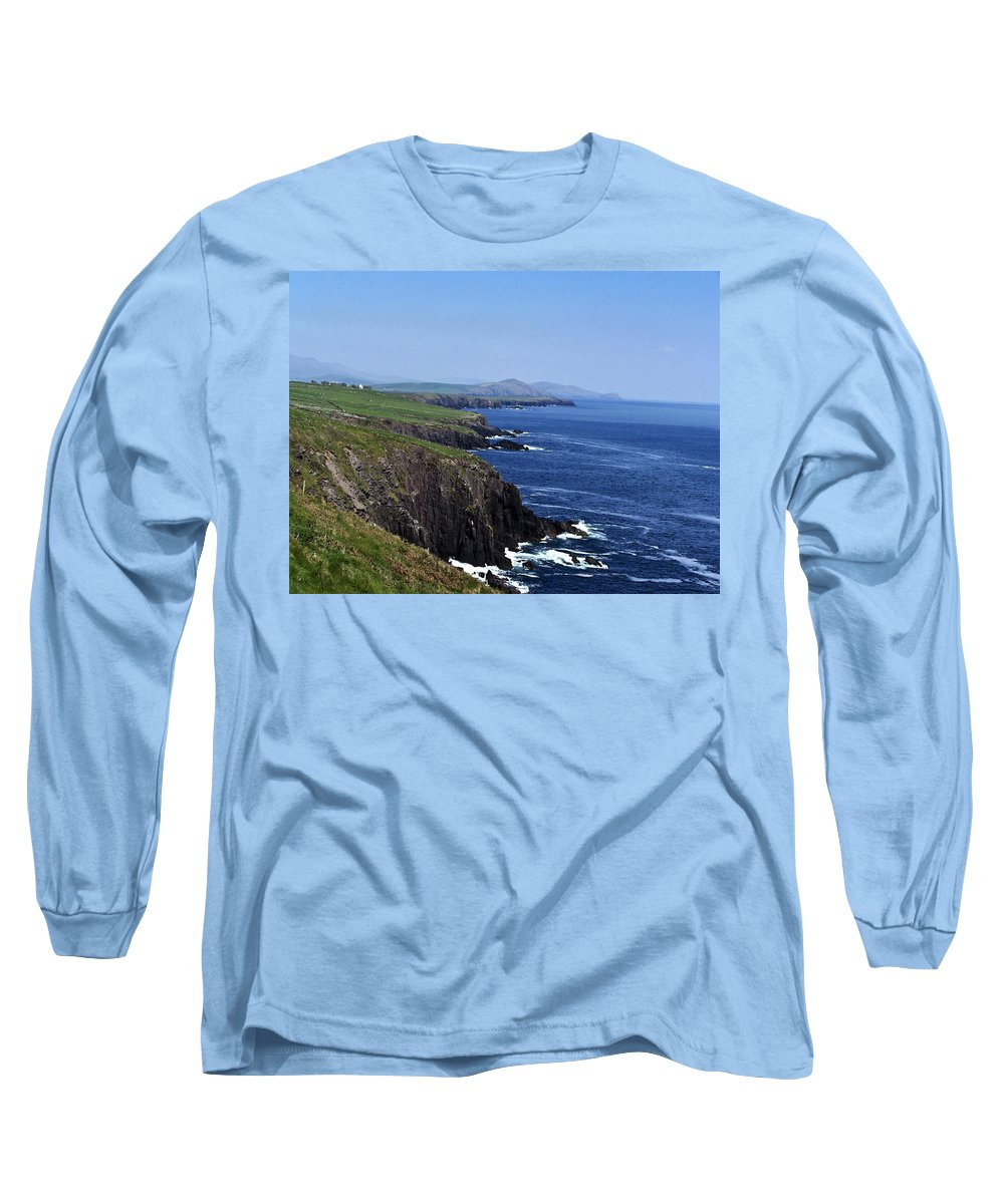 Irish Long Sleeve T-Shirt featuring the photograph Dingle Coast Near Fahan Ireland by Teresa Mucha