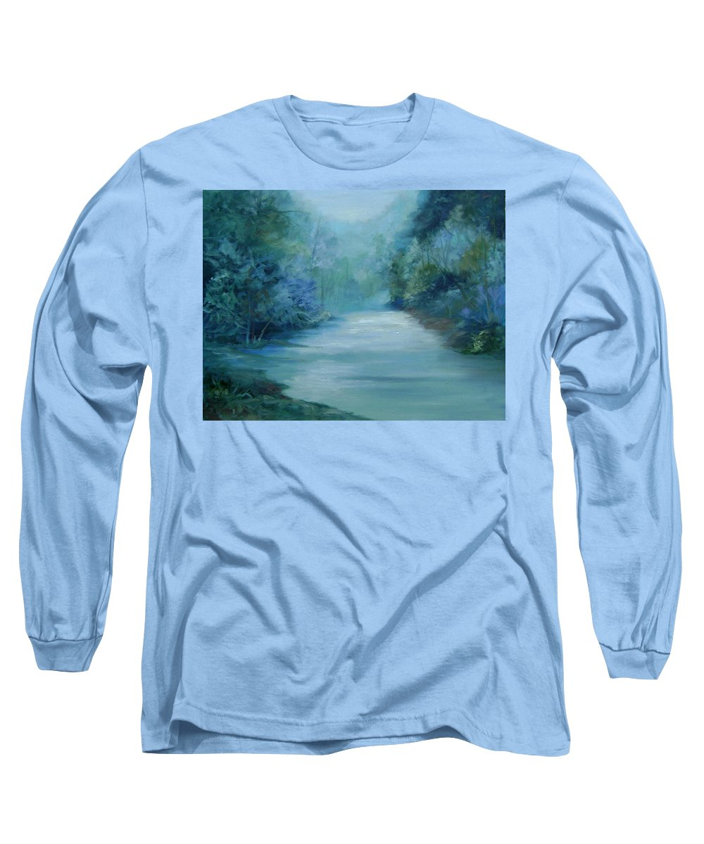 Burton River Georgia Long Sleeve T-Shirt featuring the painting Dreamsome by Ginger Concepcion
