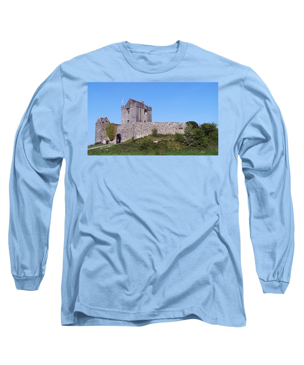 Irish Long Sleeve T-Shirt featuring the photograph Dunguaire Castle Kinvara Ireland by Teresa Mucha