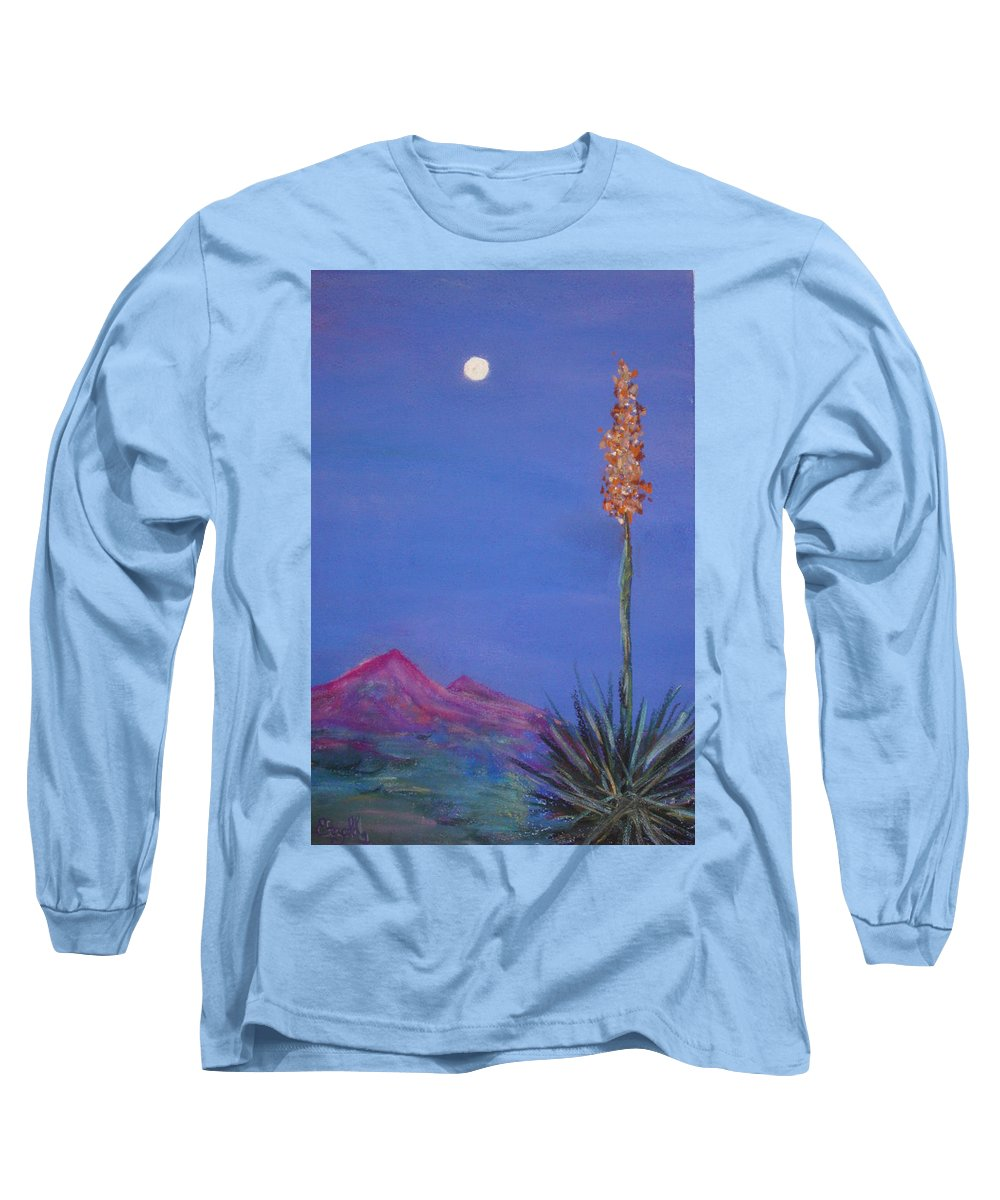 Evening Long Sleeve T-Shirt featuring the painting Dusk by Melinda Etzold