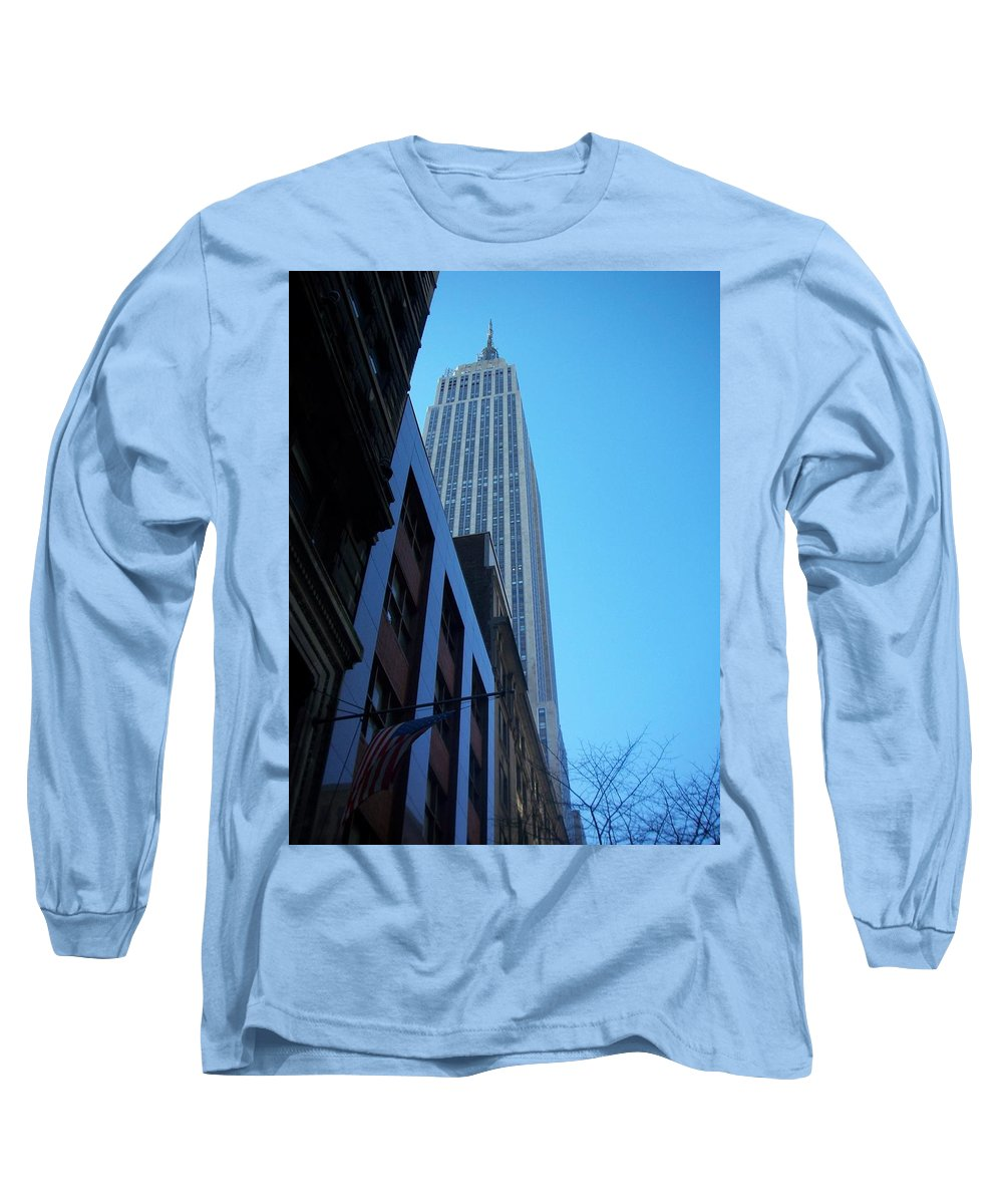 Emoire State Building Long Sleeve T-Shirt featuring the photograph Empire State 1 by Anita Burgermeister