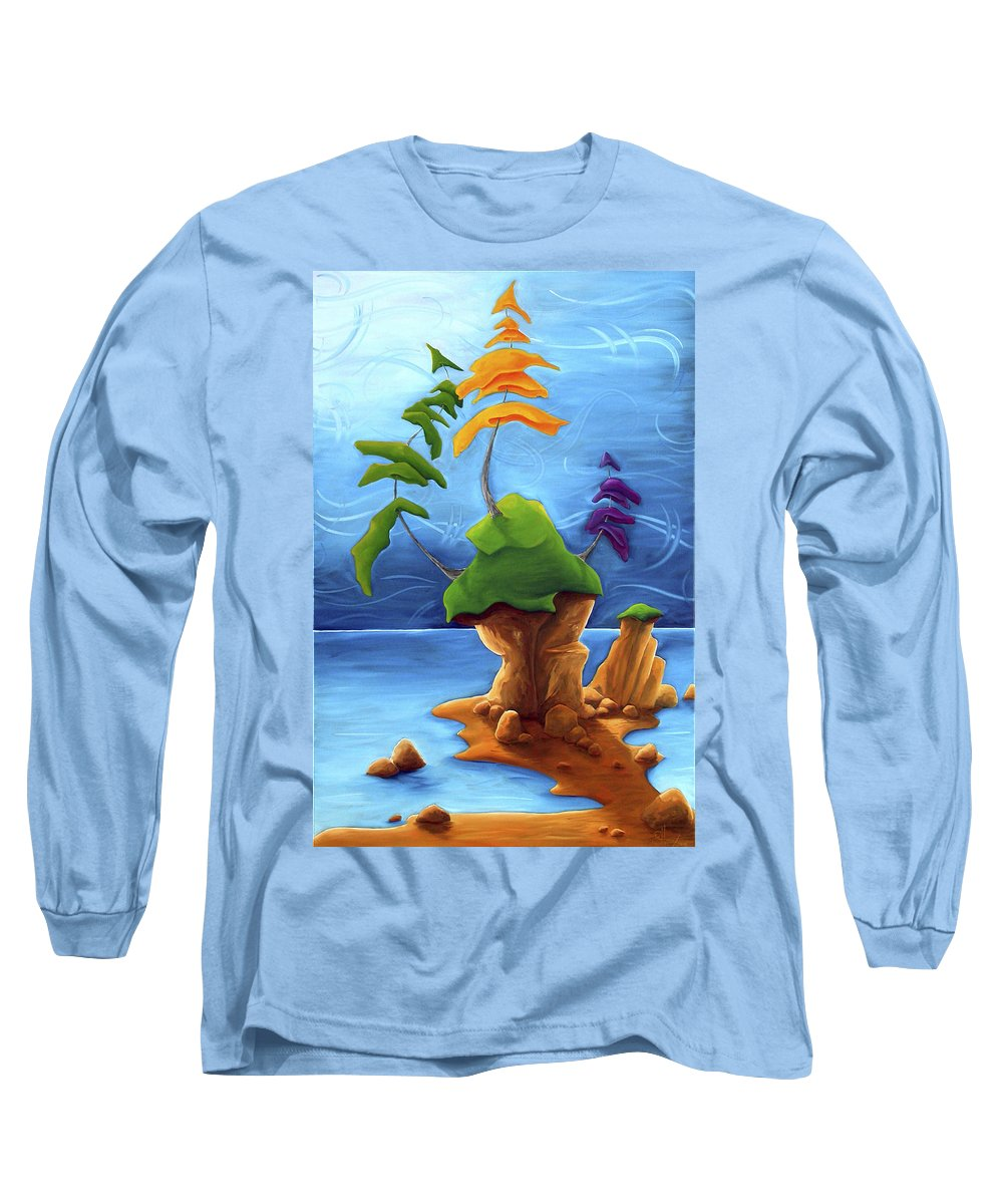Landscape Long Sleeve T-Shirt featuring the painting Enraptured by Richard Hoedl
