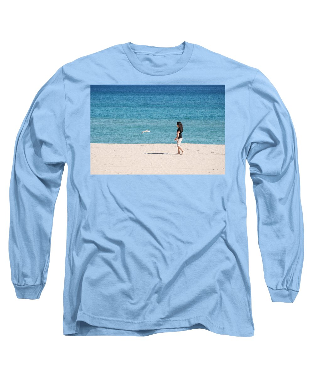 Ocean Long Sleeve T-Shirt featuring the photograph Flight Of The Angel by Rob Hans