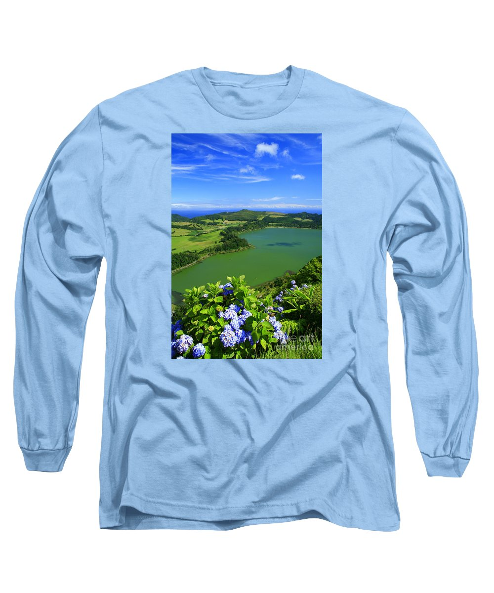 Azores Long Sleeve T-Shirt featuring the photograph Furnas Lake by Gaspar Avila