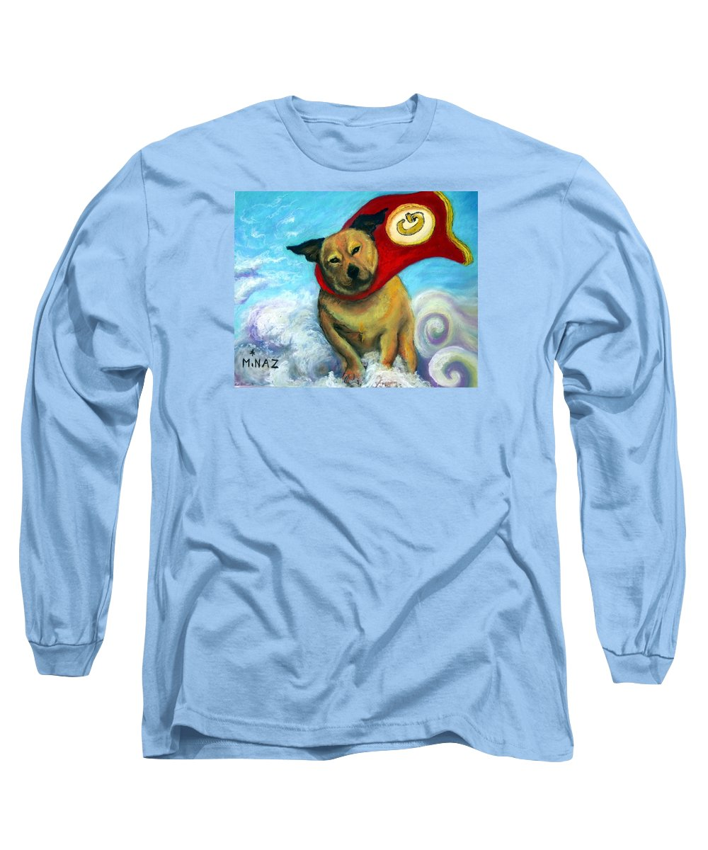 Dog Long Sleeve T-Shirt featuring the painting Gizmo The Great by Minaz Jantz