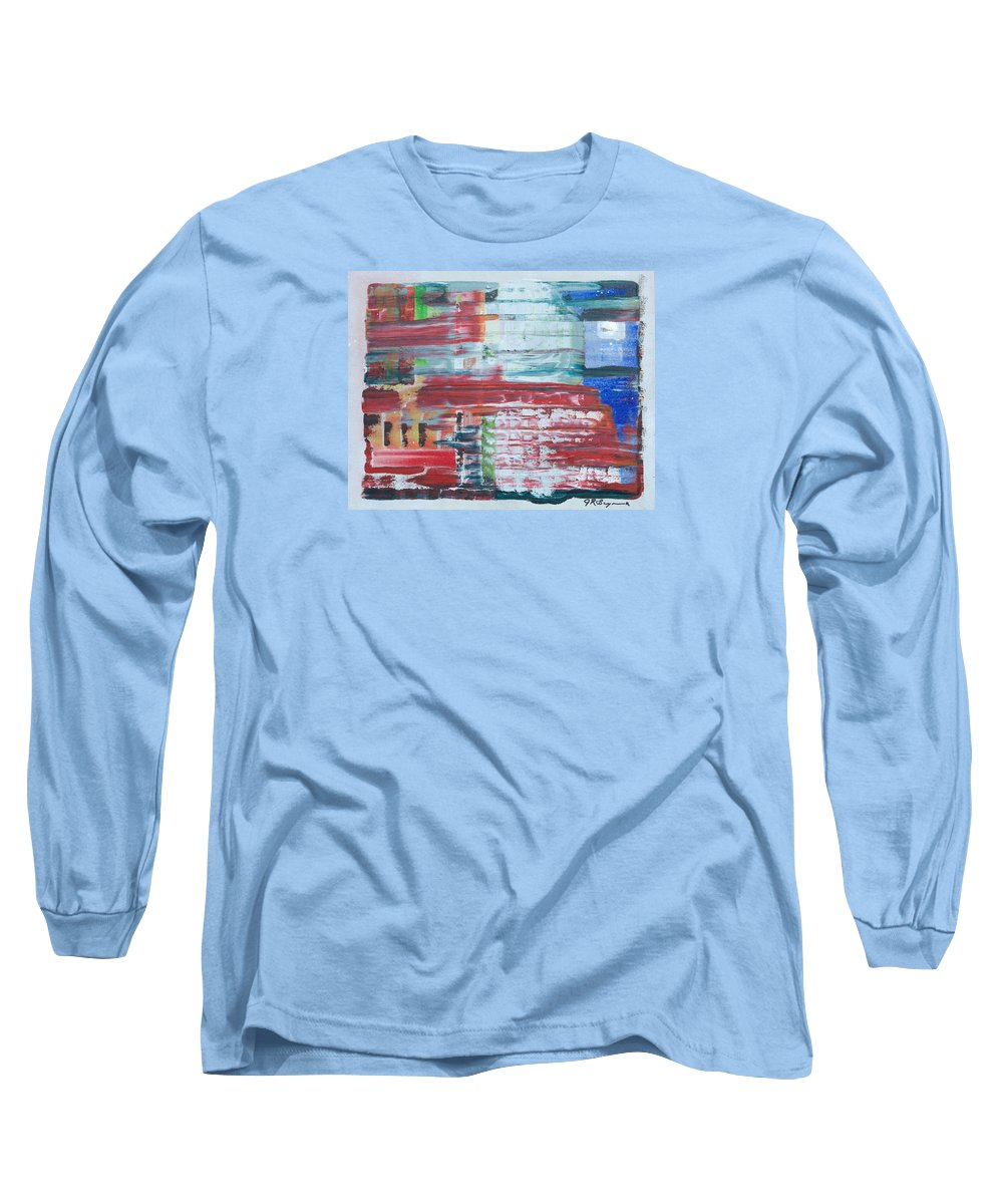 Impressionism Long Sleeve T-Shirt featuring the painting Glass Blocks by J R Seymour