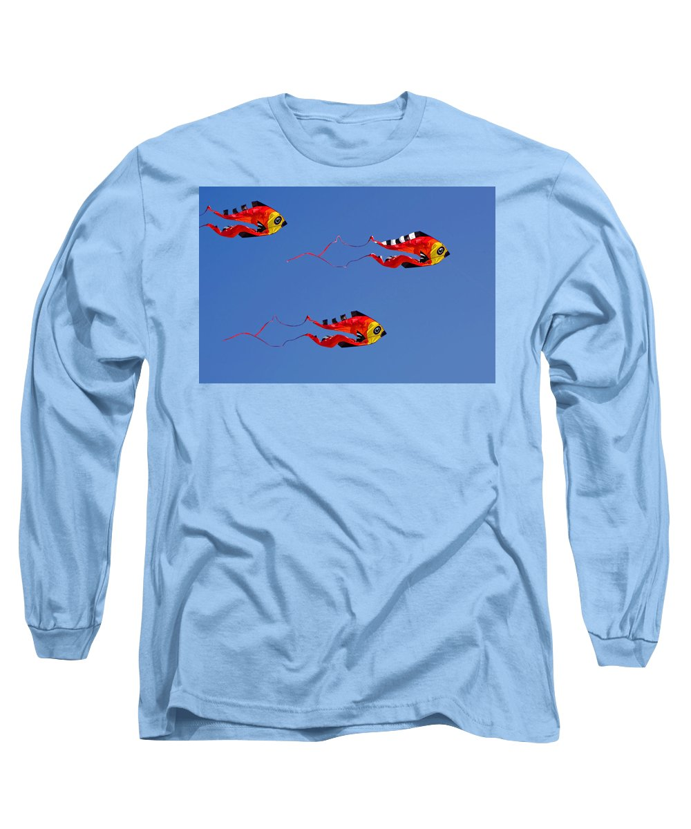 Clay Long Sleeve T-Shirt featuring the photograph Go Fly A Kite by Clayton Bruster
