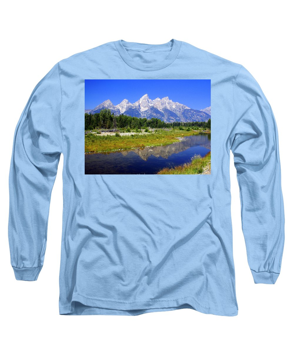 Grand Teton National Park Long Sleeve T-Shirt featuring the photograph Grand Tetons by Marty Koch
