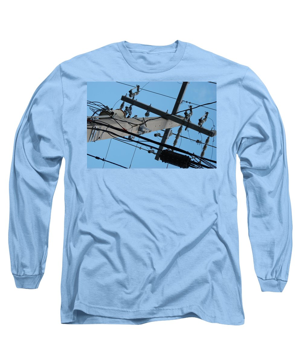 Sky Long Sleeve T-Shirt featuring the photograph High Wire by Rob Hans