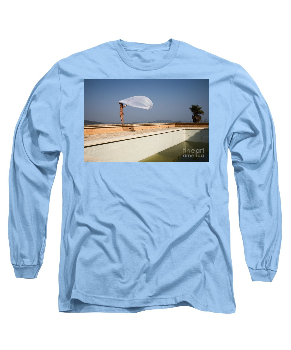 Sensual Long Sleeve T-Shirt featuring the photograph I Will Fly To You by Olivier De Rycke