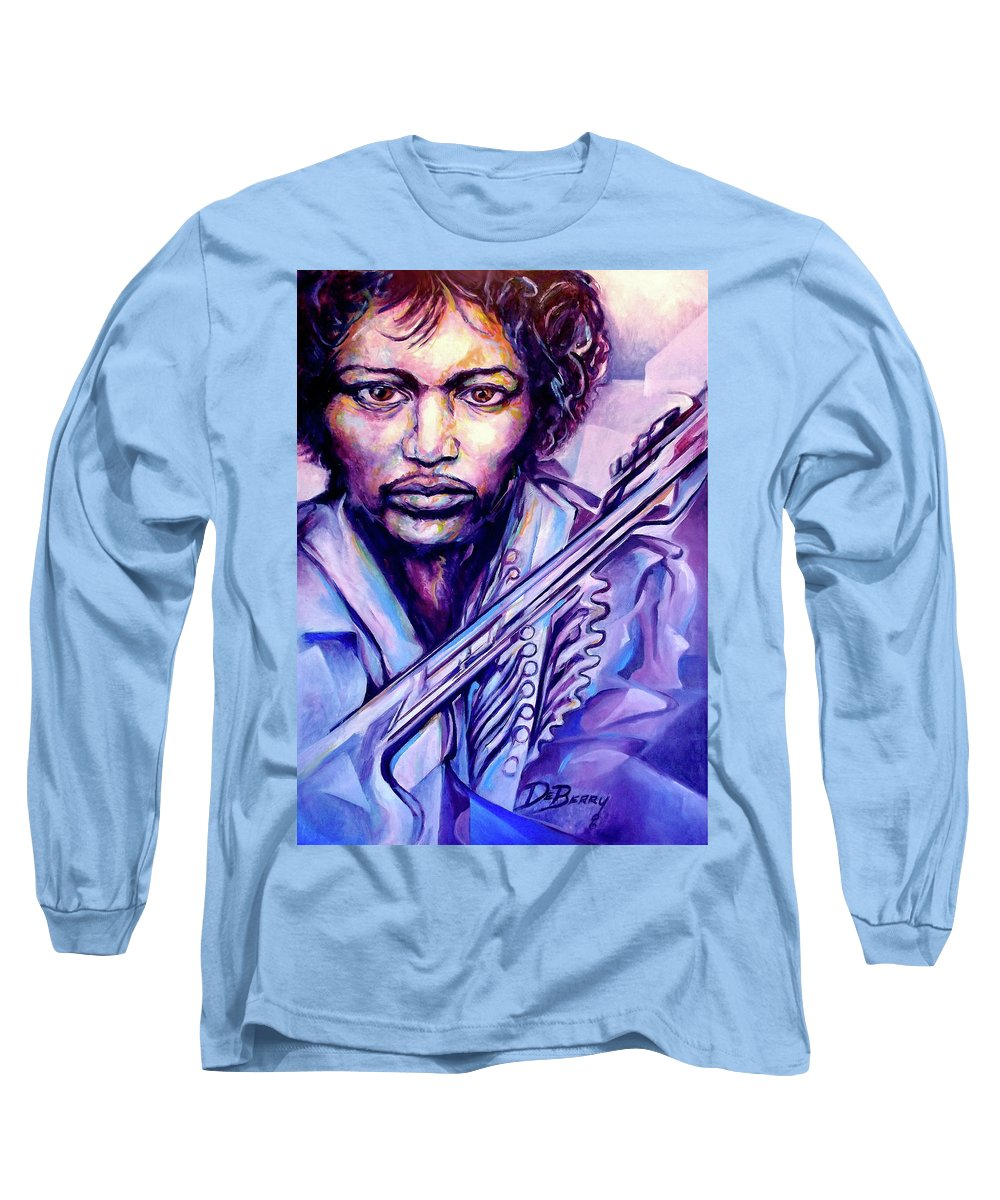 Long Sleeve T-Shirt featuring the painting Jimi by Lloyd DeBerry