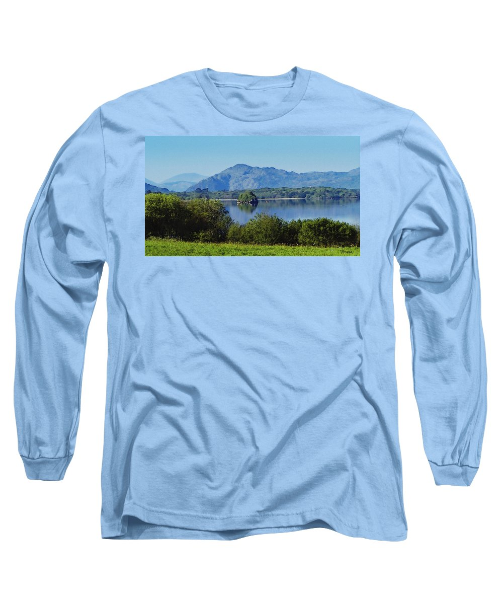 Irish Long Sleeve T-Shirt featuring the painting Loch Leanne Painting Killarney Ireland by Teresa Mucha