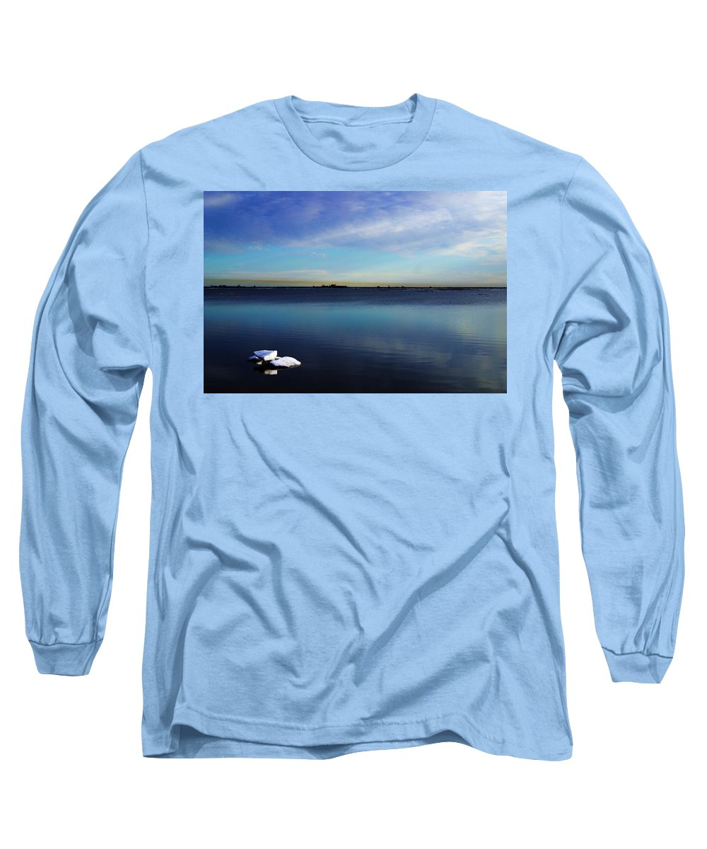 Landscape Long Sleeve T-Shirt featuring the photograph Lone Ice by Anthony Jones