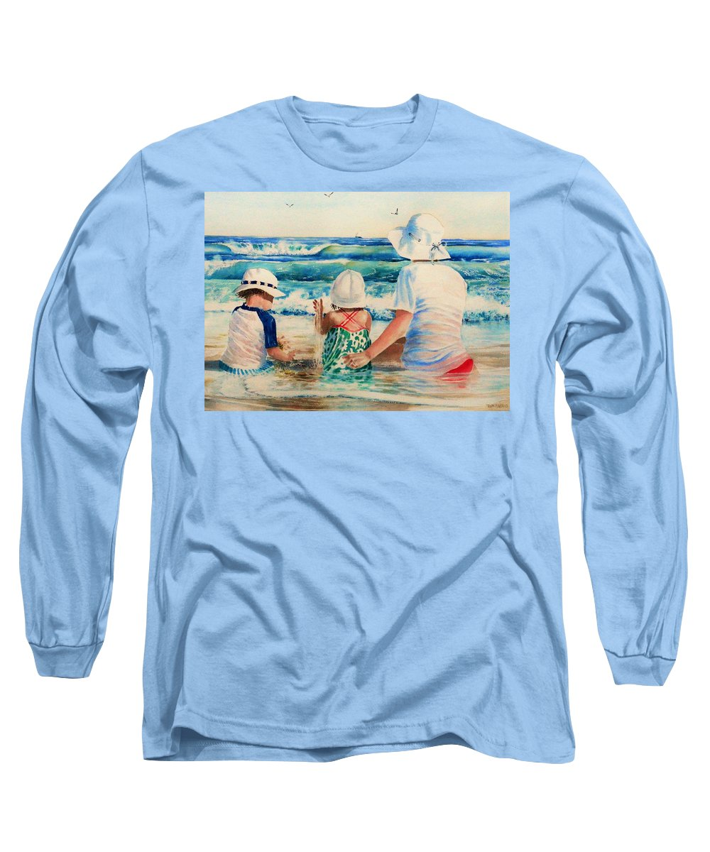 Beach Long Sleeve T-Shirt featuring the painting Low Tide by Tom Harris