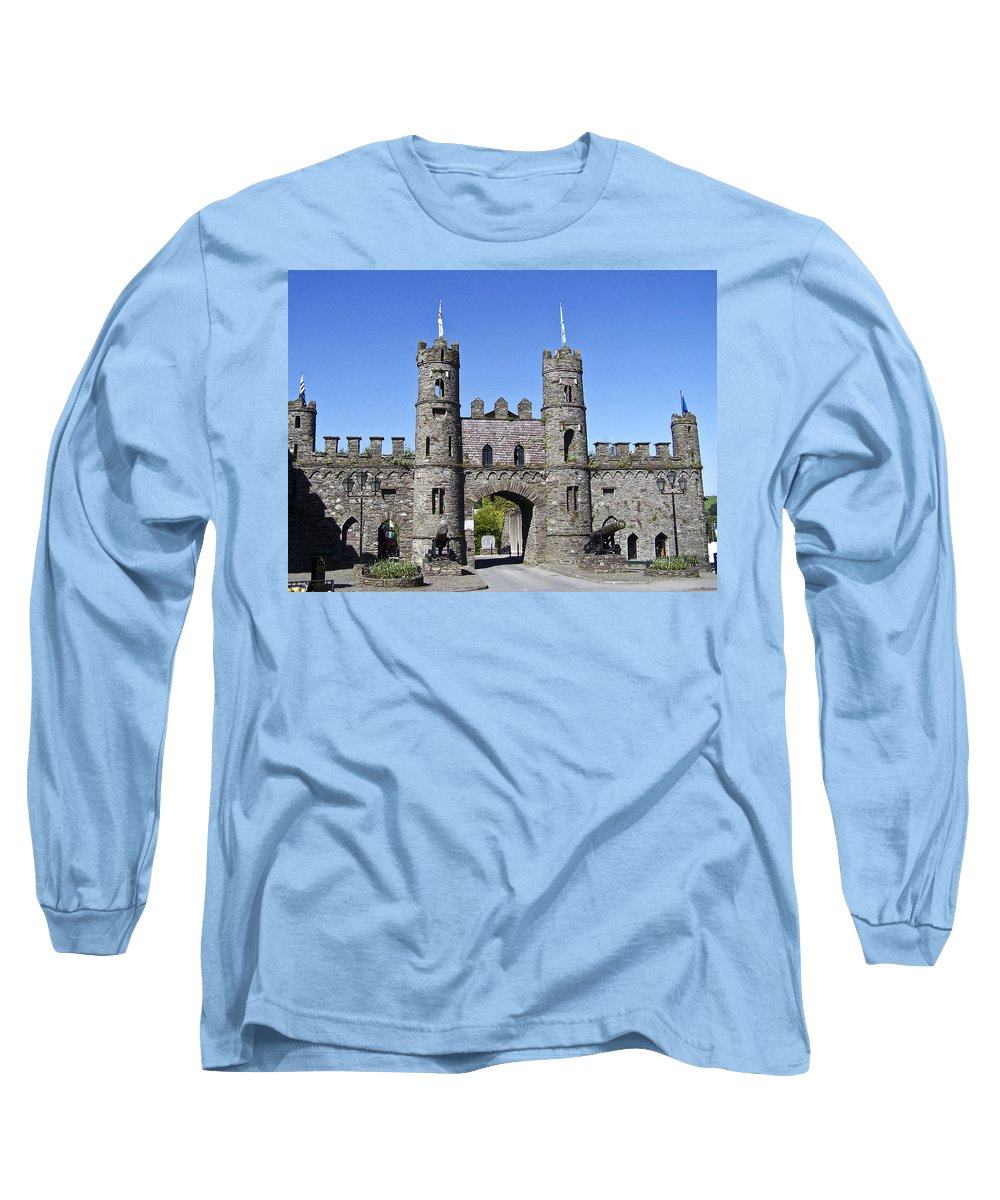 Irish Long Sleeve T-Shirt featuring the photograph Macroom Castle Ireland by Teresa Mucha