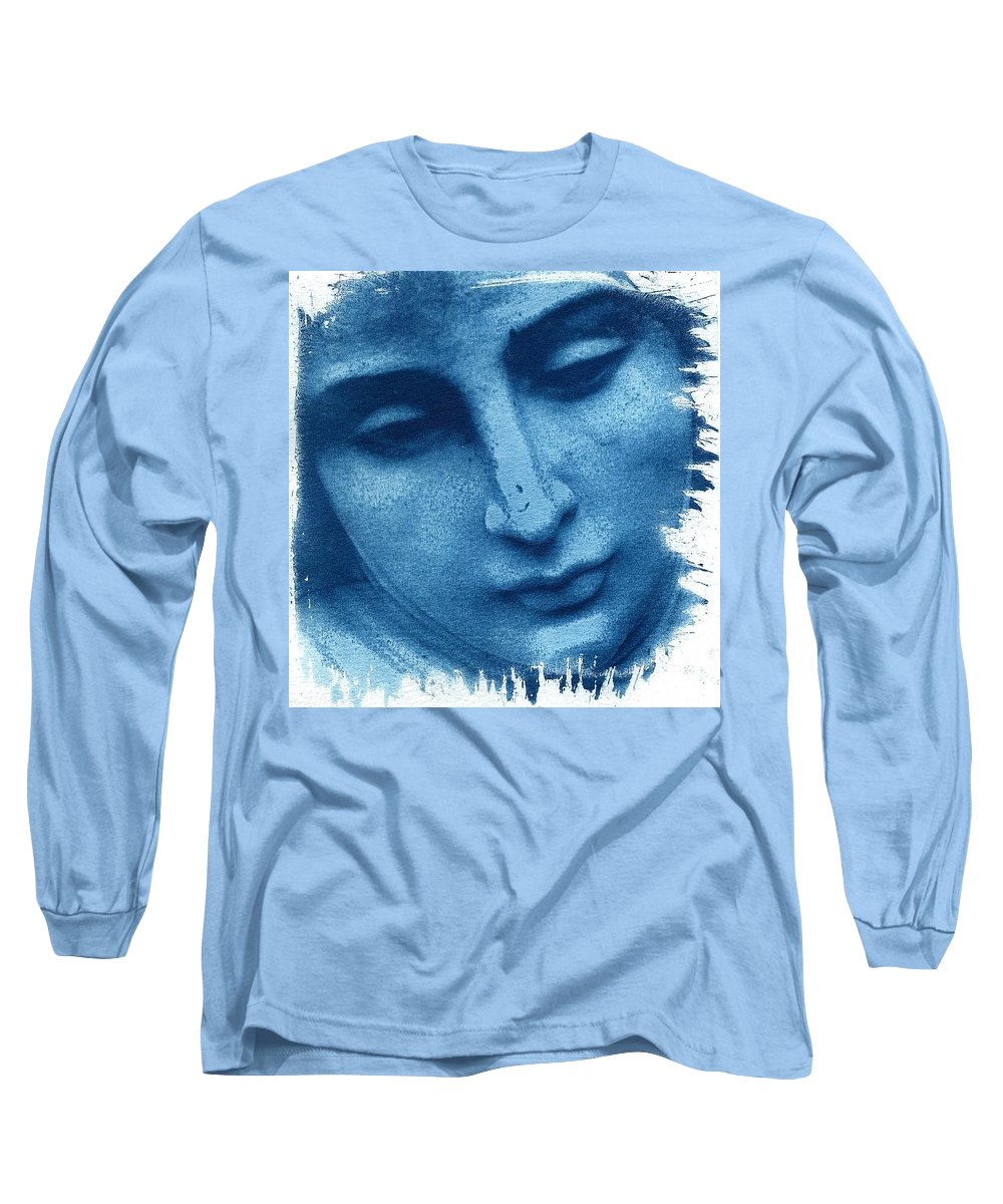 Blue Long Sleeve T-Shirt featuring the photograph Marys Blues by Jane Linders