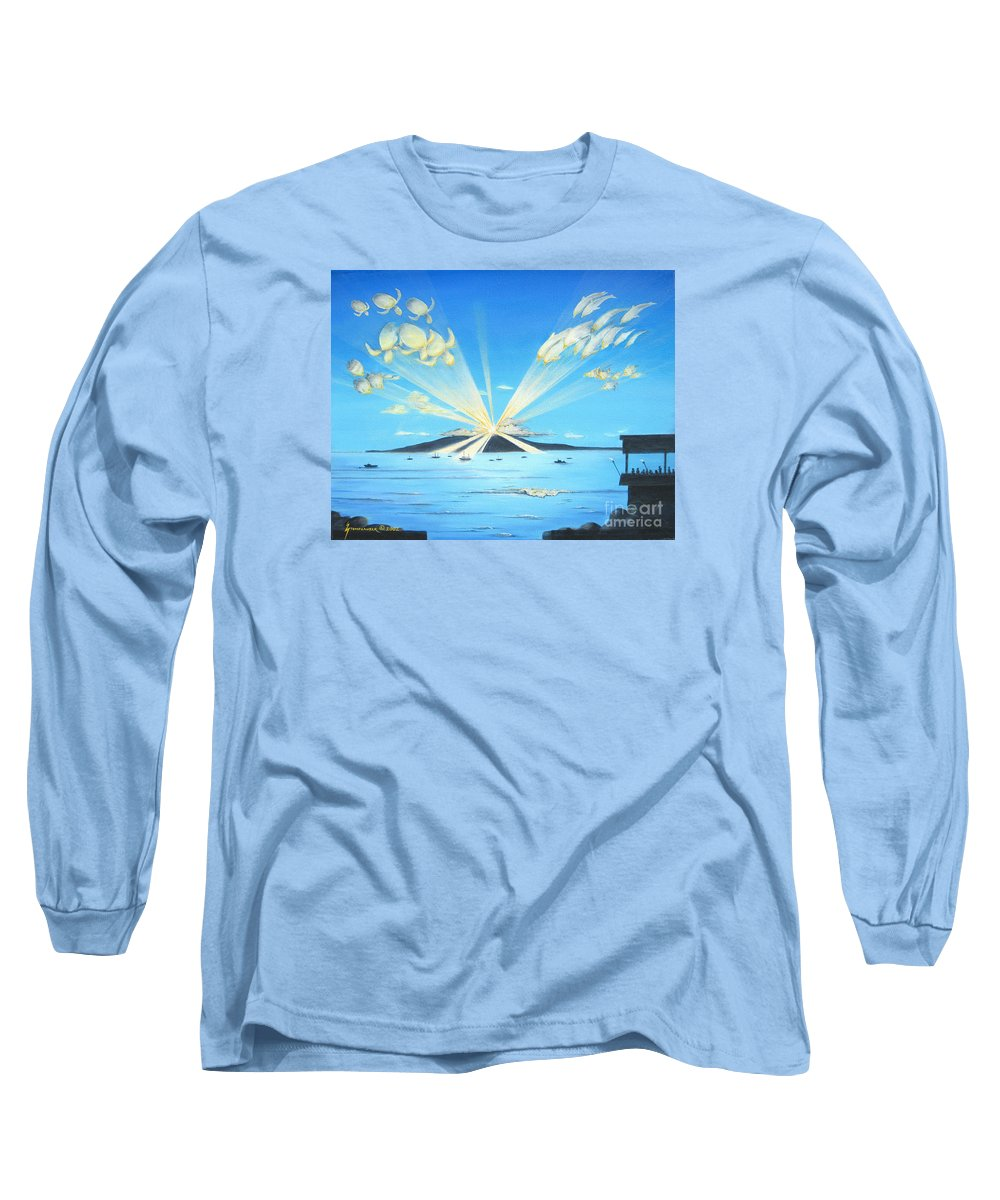 Maui Long Sleeve T-Shirt featuring the painting Maui Magic by Jerome Stumphauzer