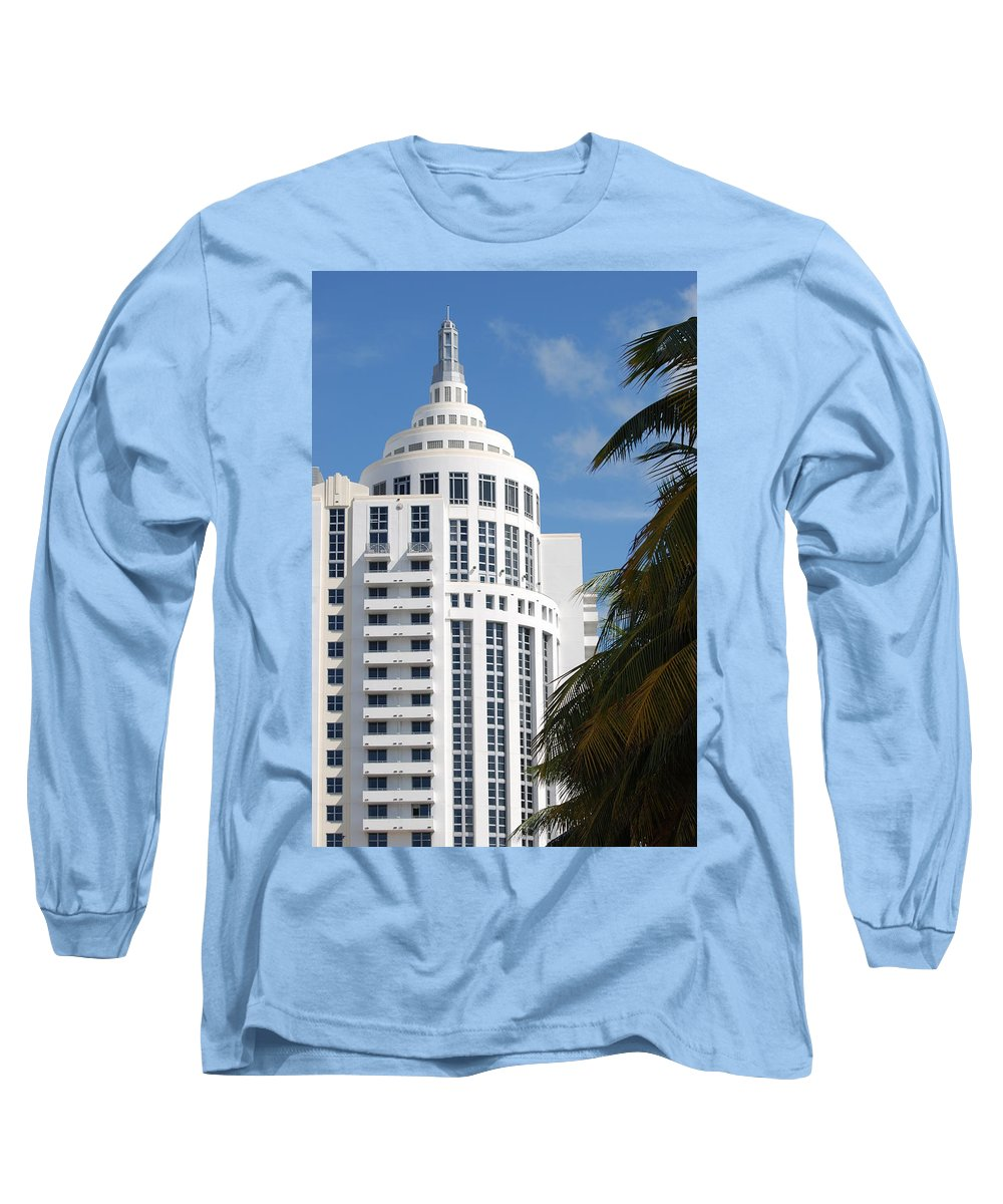 Architecture Long Sleeve T-Shirt featuring the photograph Miami S Capitol Building by Rob Hans