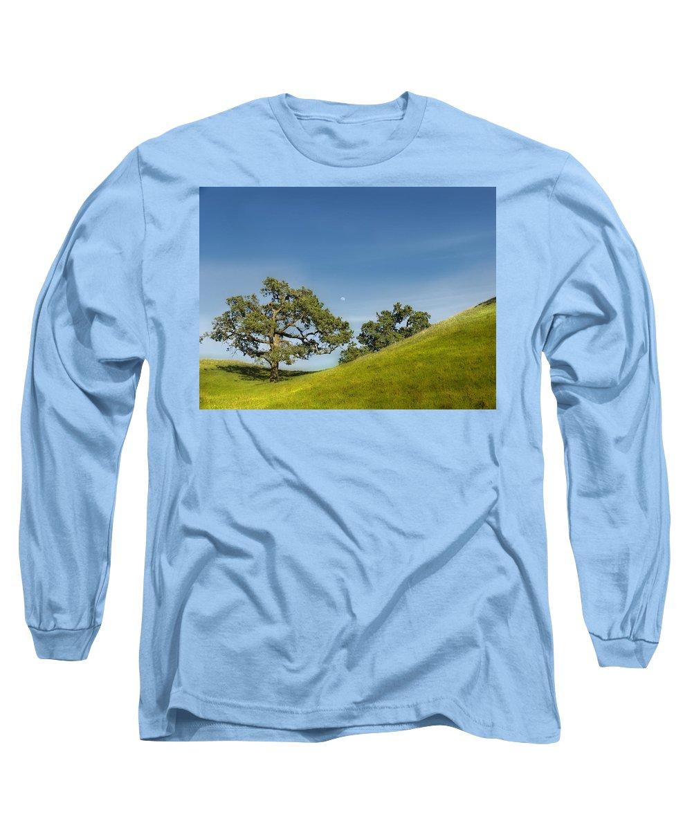Landscape Long Sleeve T-Shirt featuring the photograph Moon Rising by Karen W Meyer