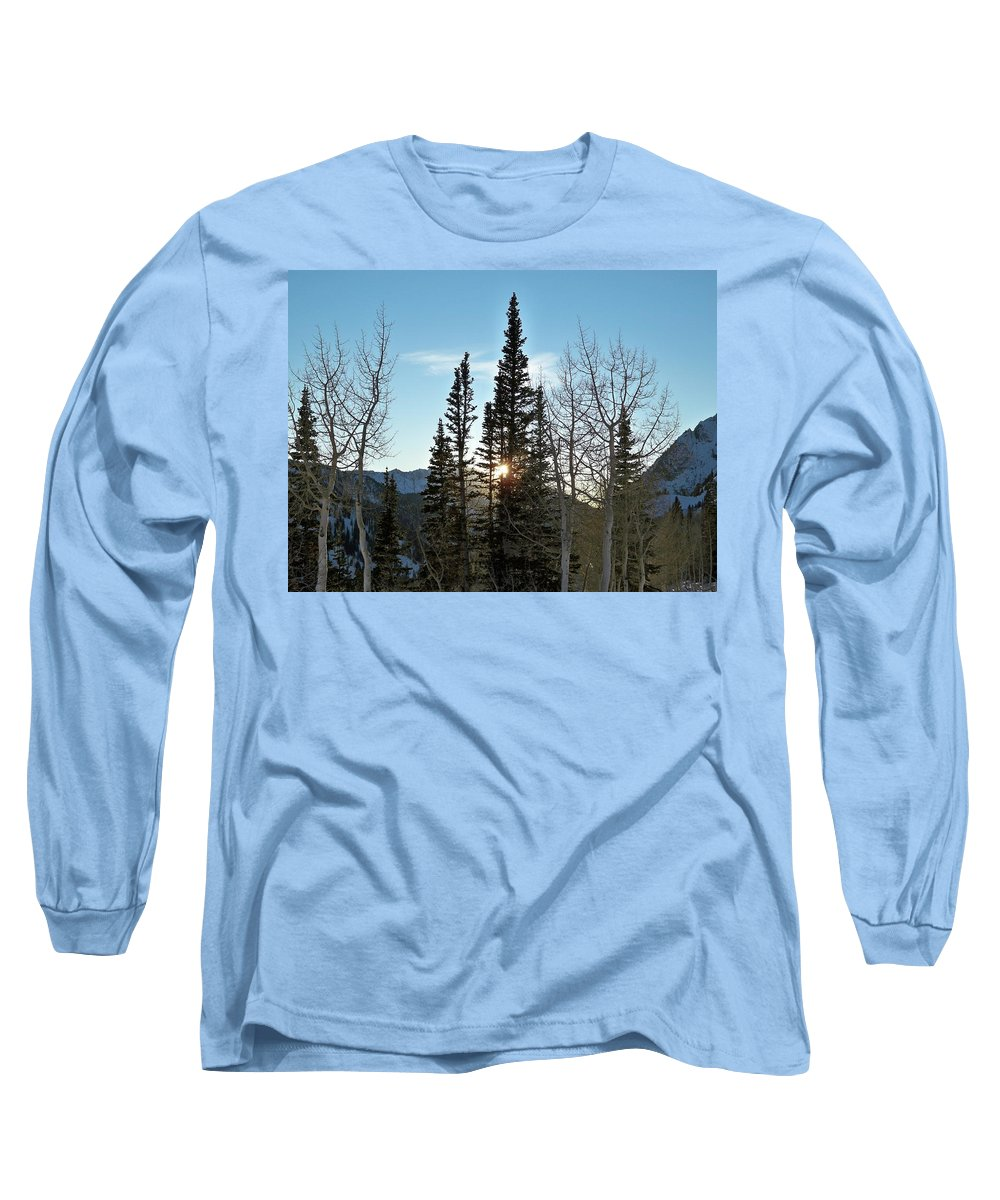 Rural Long Sleeve T-Shirt featuring the photograph Mountain Sunset by Michael Cuozzo