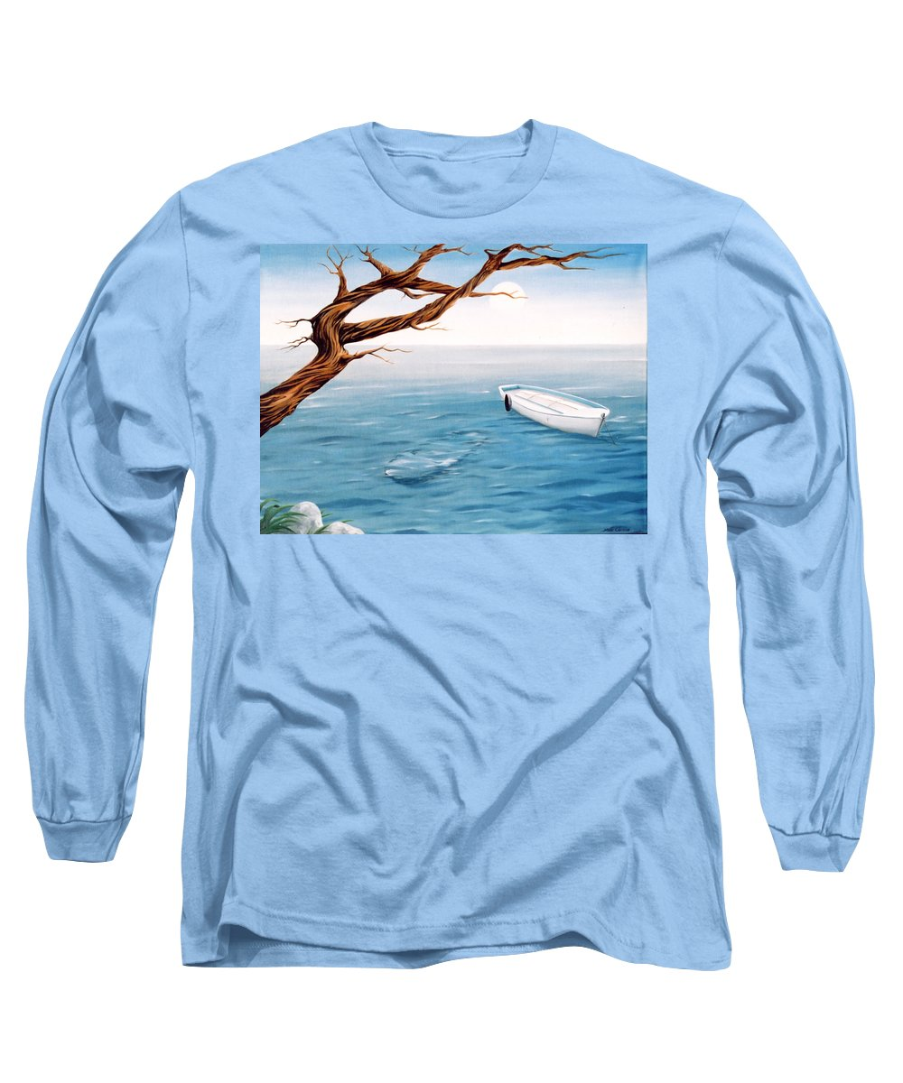 Seascape Prints Long Sleeve T-Shirt featuring the painting Mourning Spring by Mark Cawood