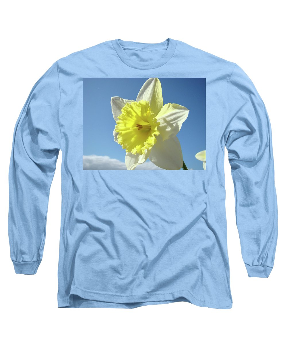 �daffodils Artwork� Long Sleeve T-Shirt featuring the photograph Nature Daffodil Flowers Art Prints Spring Nature Art by Baslee Troutman