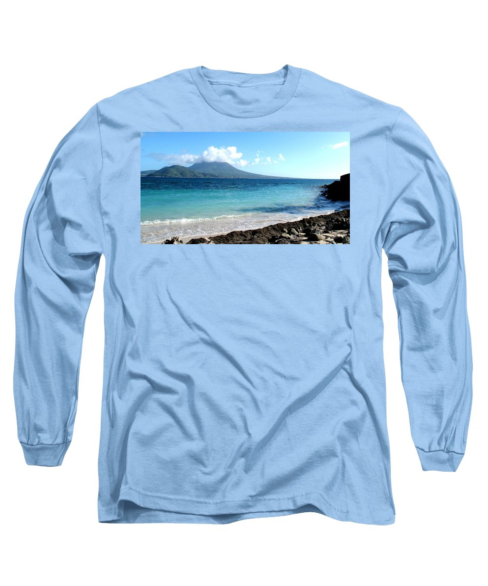 Nevis Long Sleeve T-Shirt featuring the photograph Nevis Across The Channel by Ian MacDonald
