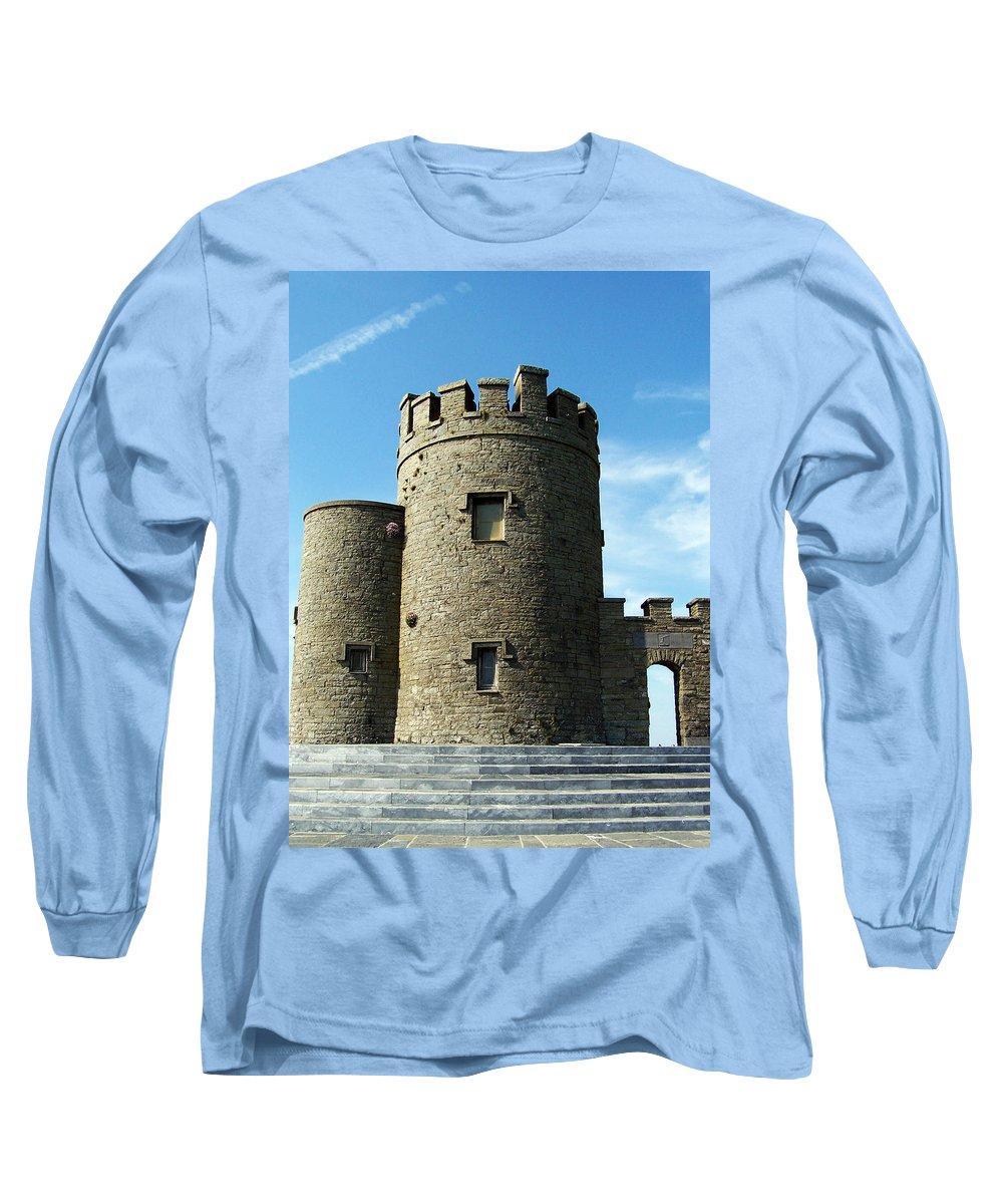 Irish Long Sleeve T-Shirt featuring the photograph O Brien's Tower Cliffs Of Moher Ireland by Teresa Mucha