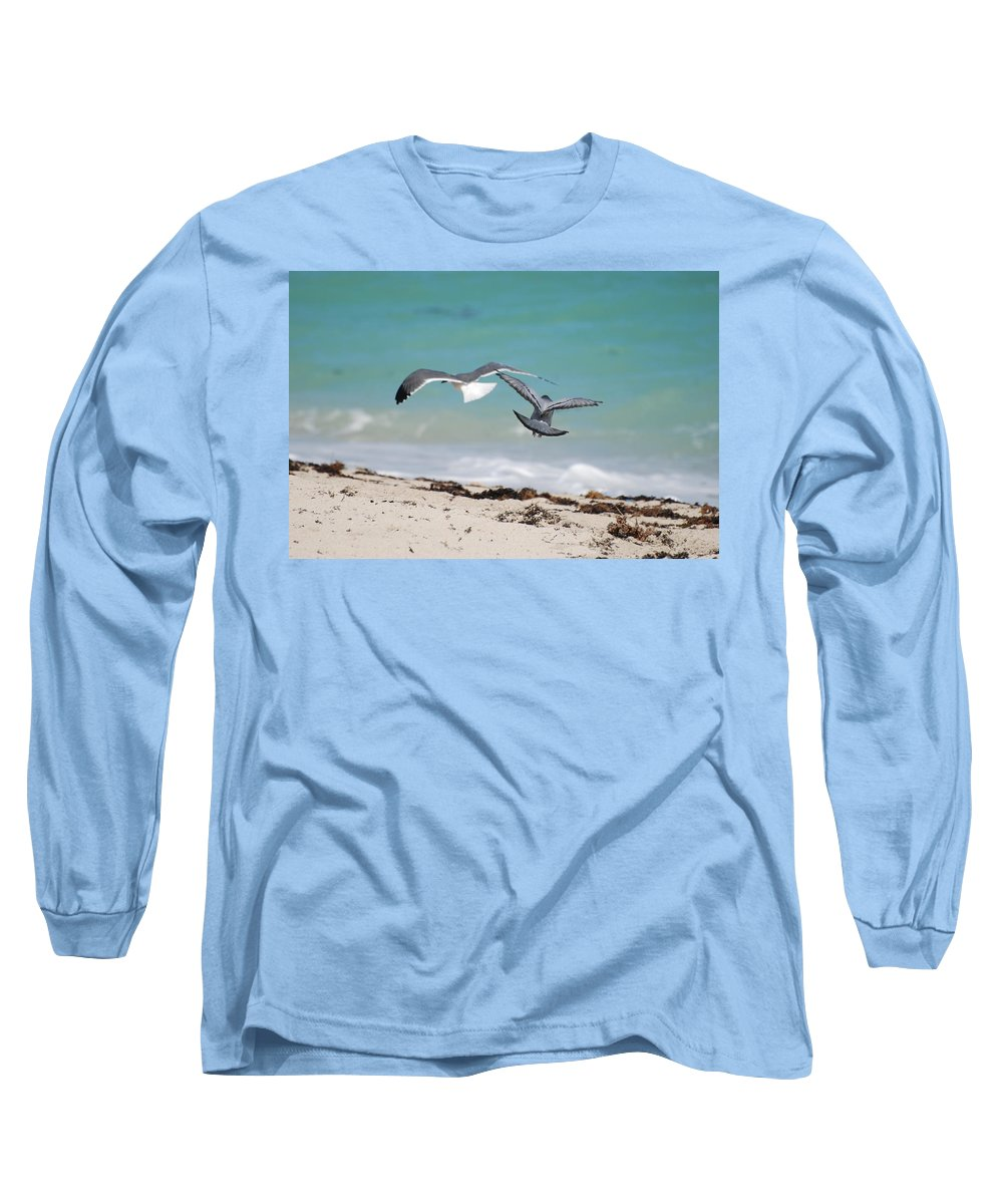 Sea Scape Long Sleeve T-Shirt featuring the photograph Ocean Birds by Rob Hans