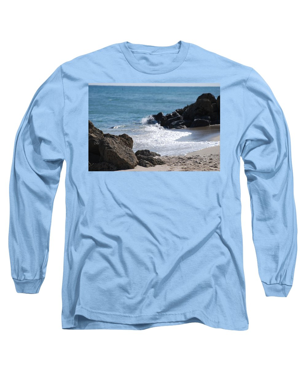 Sea Scape Long Sleeve T-Shirt featuring the photograph Ocean Rocks by Rob Hans