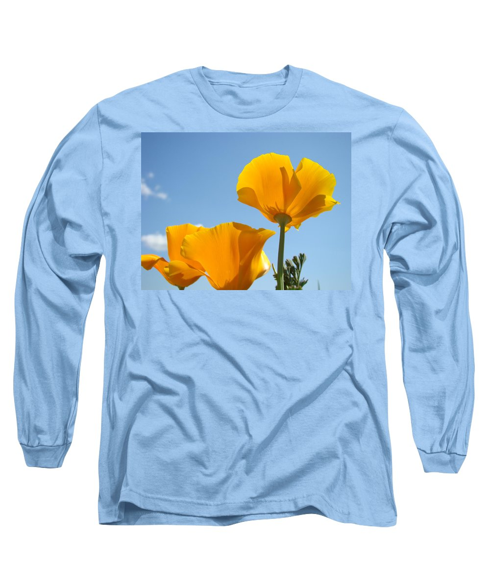 Poppies Long Sleeve T-Shirt featuring the photograph Office Art Prints Poppies 12 Poppy Flowers Giclee Prints Baslee Troutman by Baslee Troutman