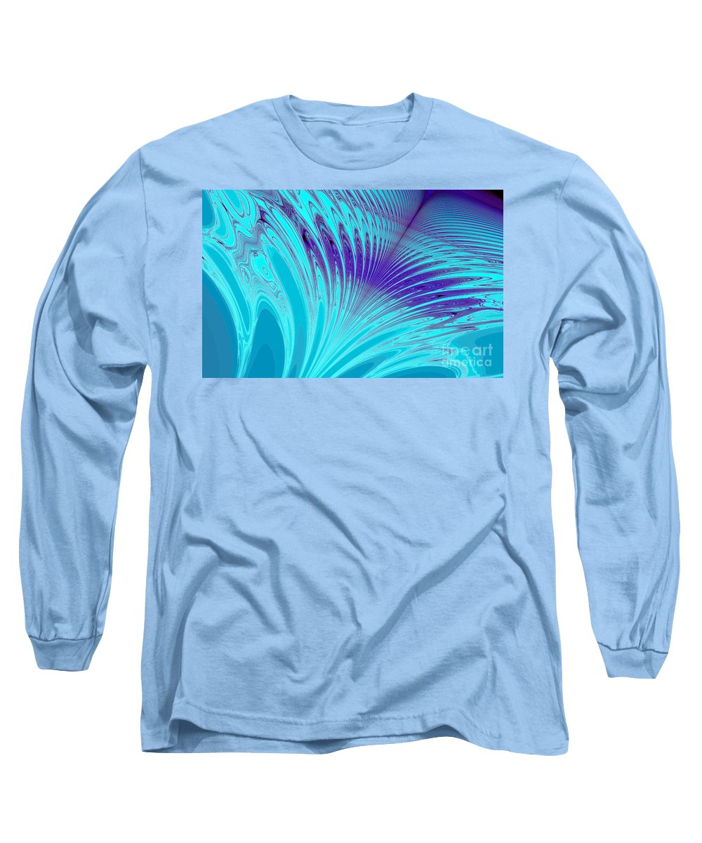 Clay Long Sleeve T-Shirt featuring the digital art Peacock by Clayton Bruster