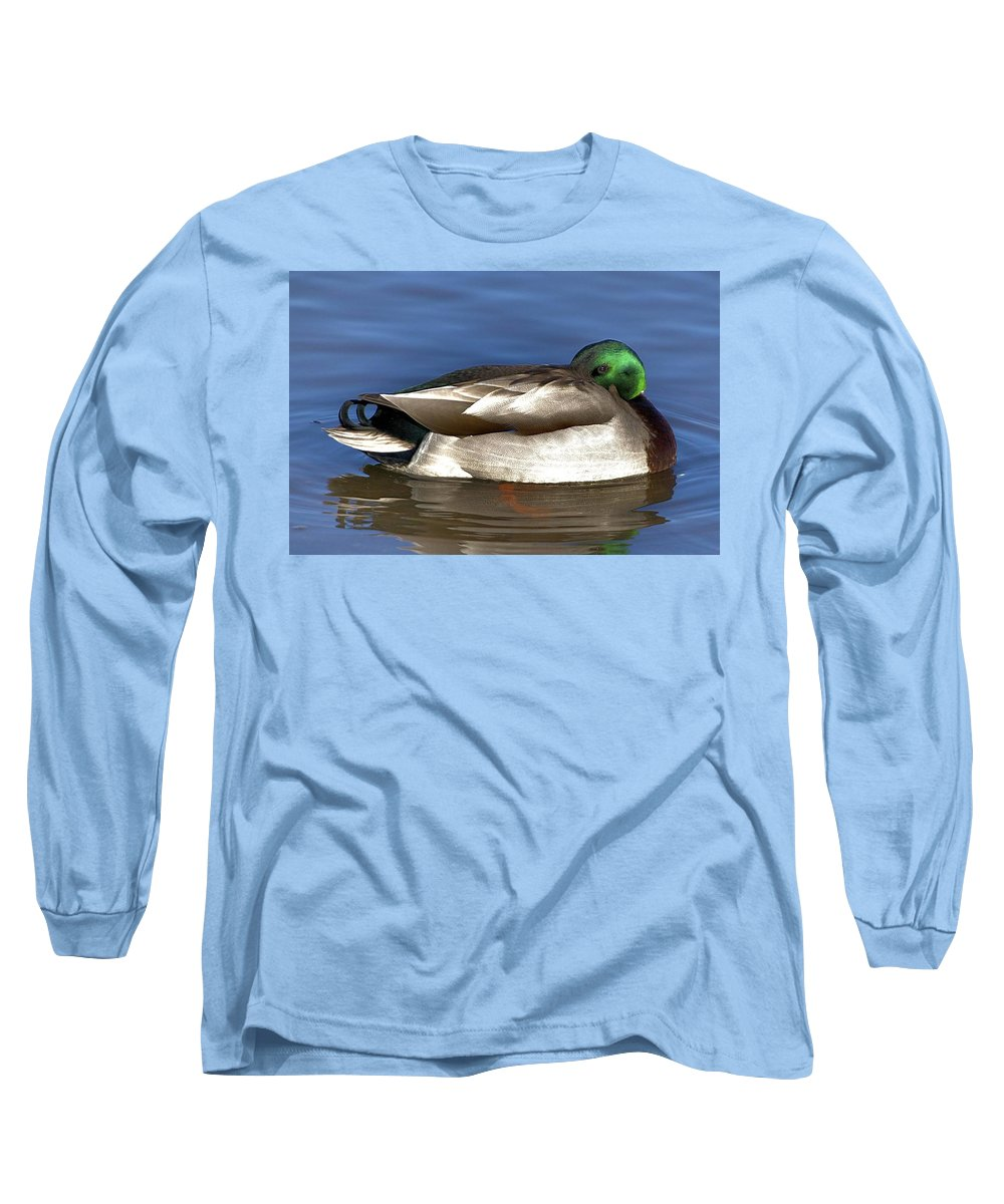 Duck Long Sleeve T-Shirt featuring the photograph Peek A Boo by Robert Pearson