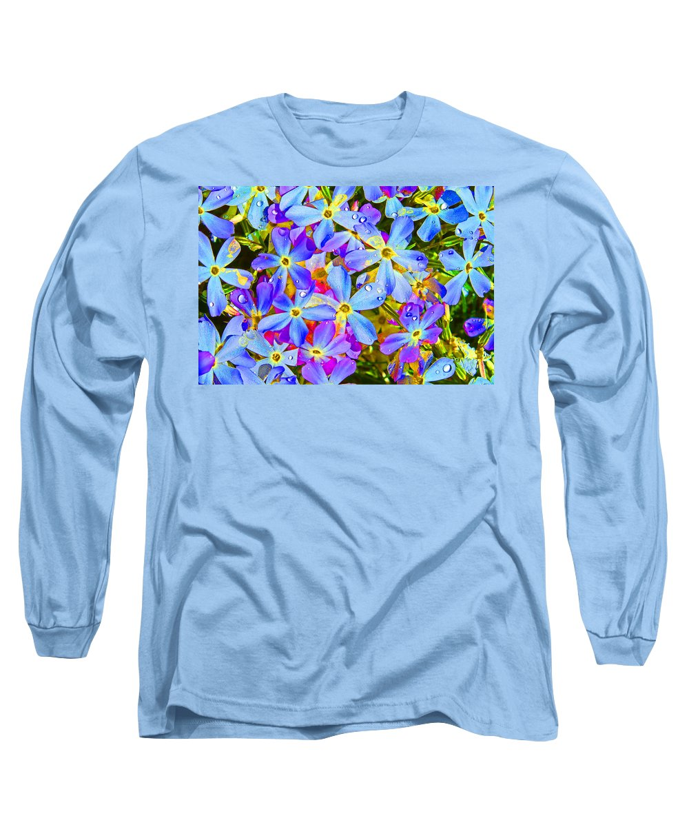 Wildflower Long Sleeve T-Shirt featuring the photograph Pincushion Flower by Heather Coen