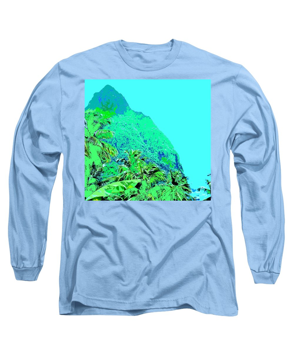 Pitons Long Sleeve T-Shirt featuring the photograph Pitons by Ian MacDonald