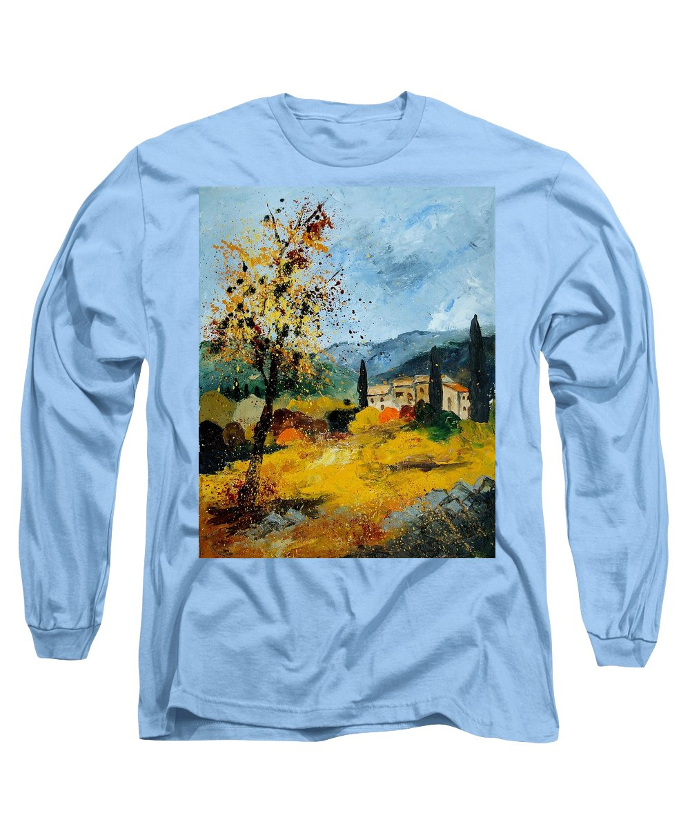 Provence Long Sleeve T-Shirt featuring the painting Provence 45 by Pol Ledent