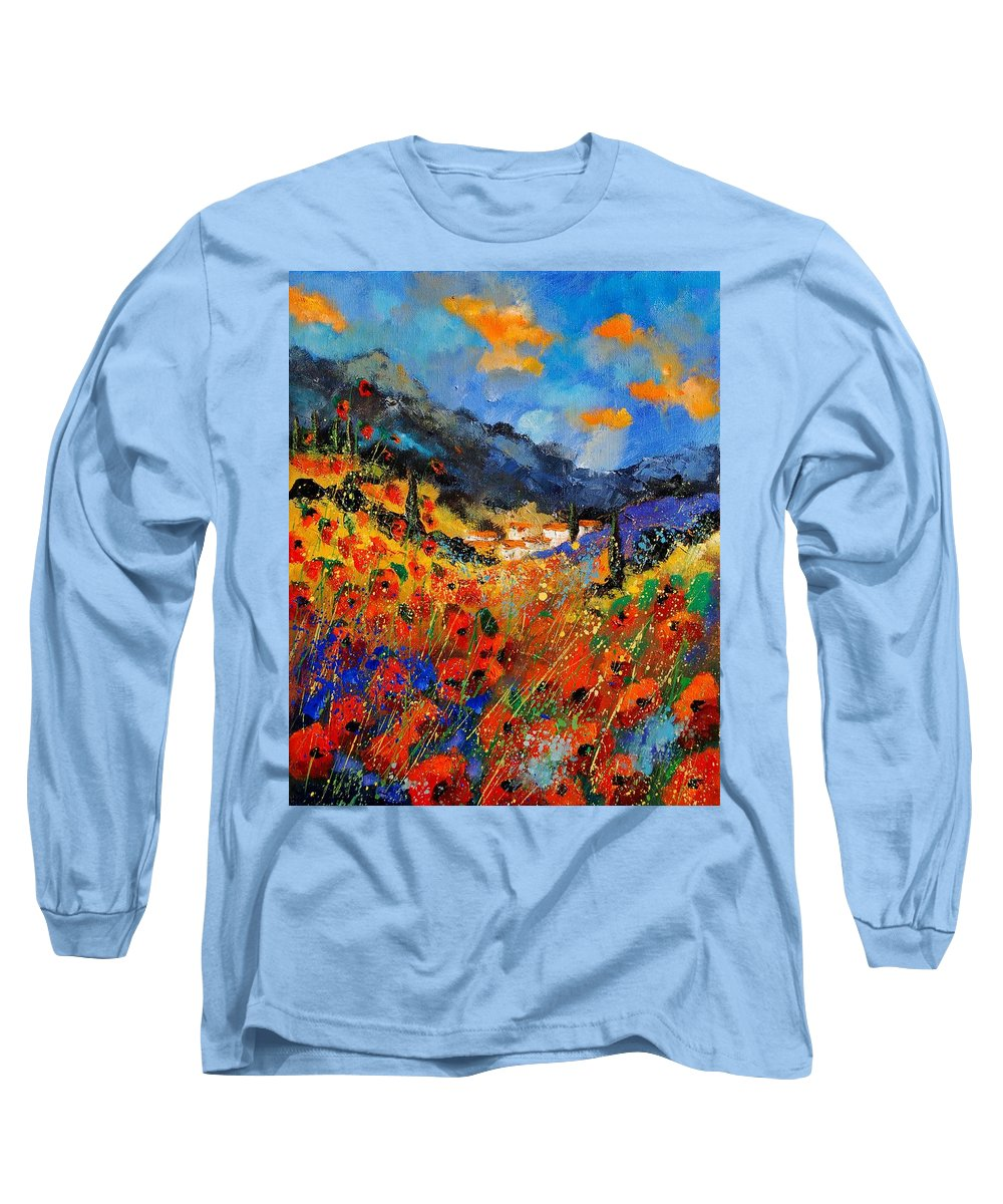 Long Sleeve T-Shirt featuring the painting Provence 459020 by Pol Ledent