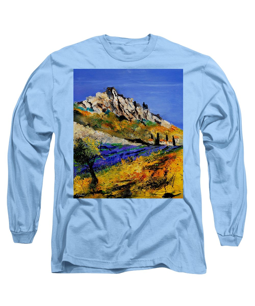 Flowers Long Sleeve T-Shirt featuring the painting Provence 560908 by Pol Ledent