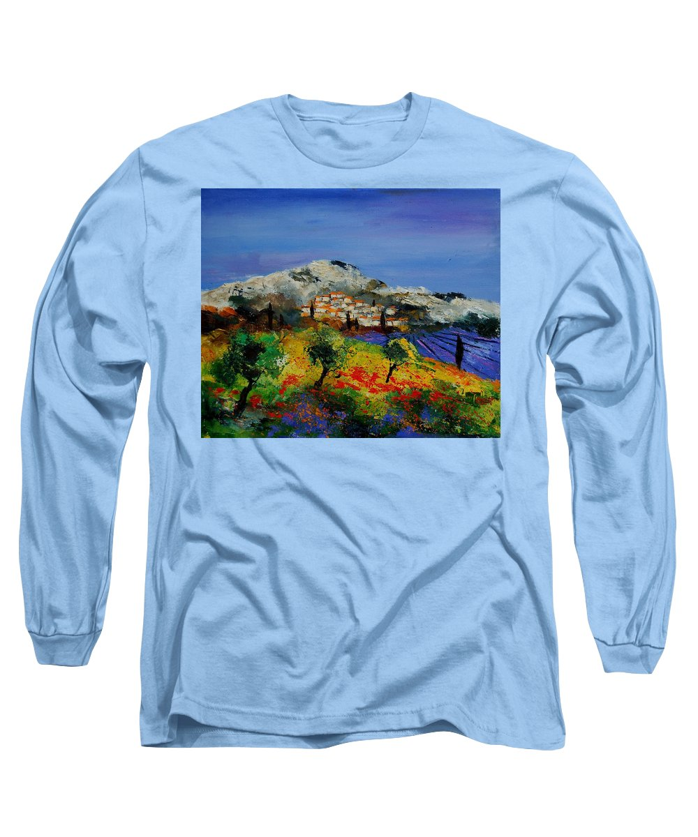 Provence Long Sleeve T-Shirt featuring the painting Provence 569010 by Pol Ledent