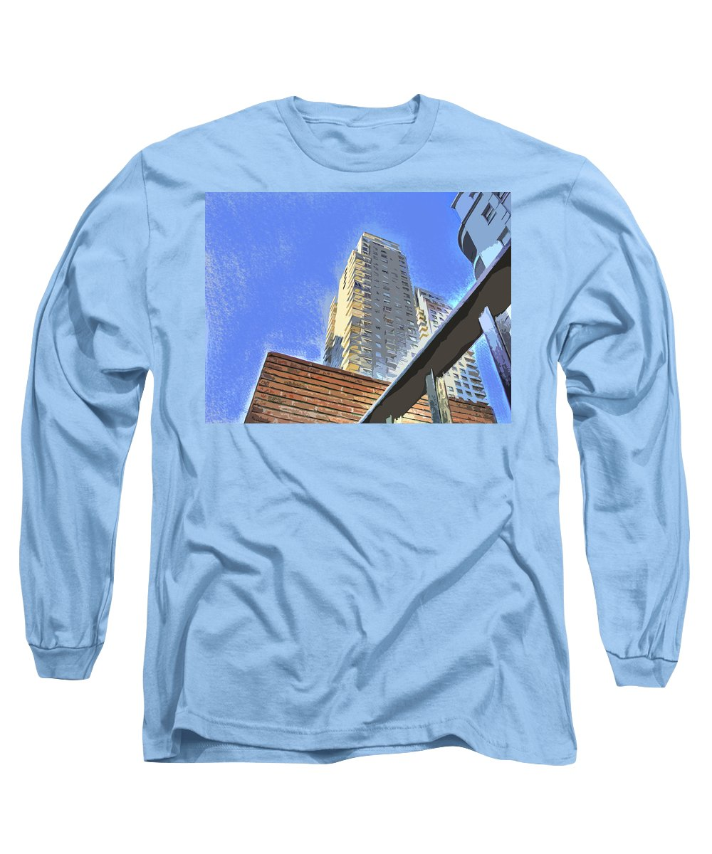 Building Long Sleeve T-Shirt featuring the photograph Reaching For The Sky by Francisco Colon