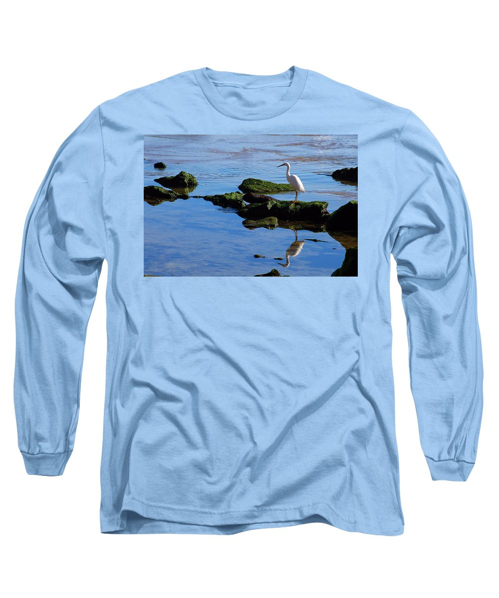 Clay Long Sleeve T-Shirt featuring the photograph Reflecting On Dinner by Clayton Bruster