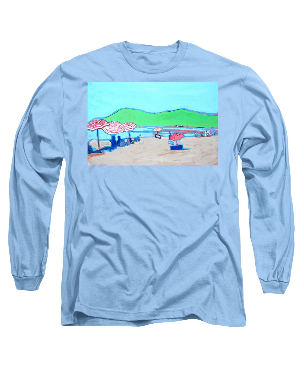 Seashore Long Sleeve T-Shirt featuring the painting Riviera by Kurt Hausmann
