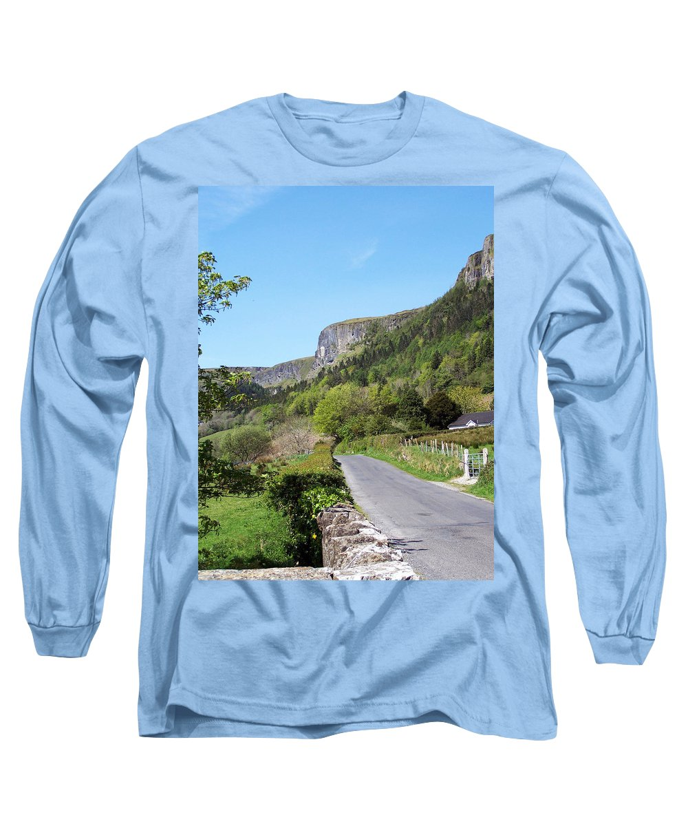 Irish Long Sleeve T-Shirt featuring the photograph Road To Benbulben County Leitrim Ireland by Teresa Mucha