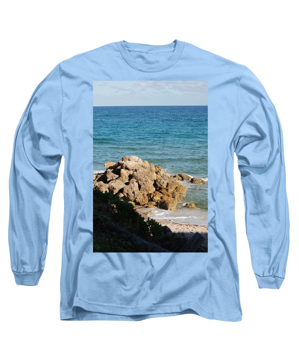 Sea Scape Long Sleeve T-Shirt featuring the photograph Rocky Shoreline by Rob Hans